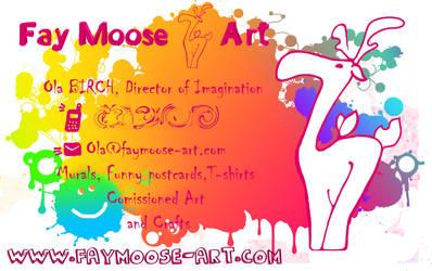 FayMoose business card by FayMoose