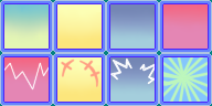 PMD Emotion Portrait Backgrounds by Pokemonic