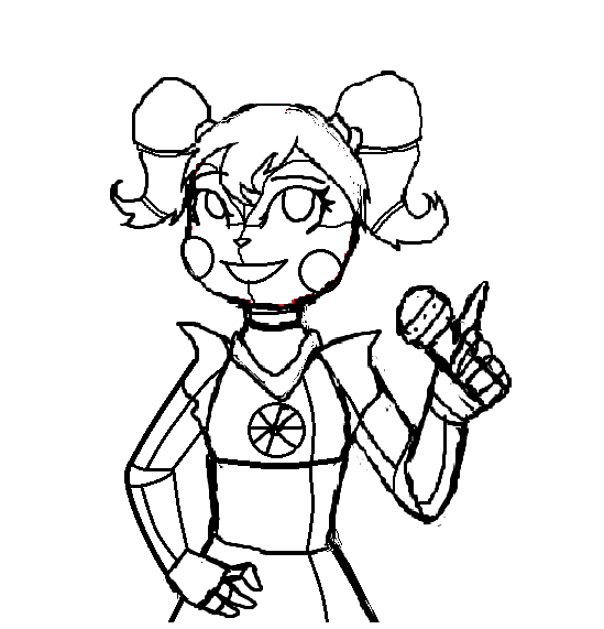Fnaf sister location baby sketch by evecat13 on deviantart for Sister coloring pages