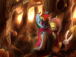 Have a happy Flutterdash in a pumpkin forest
