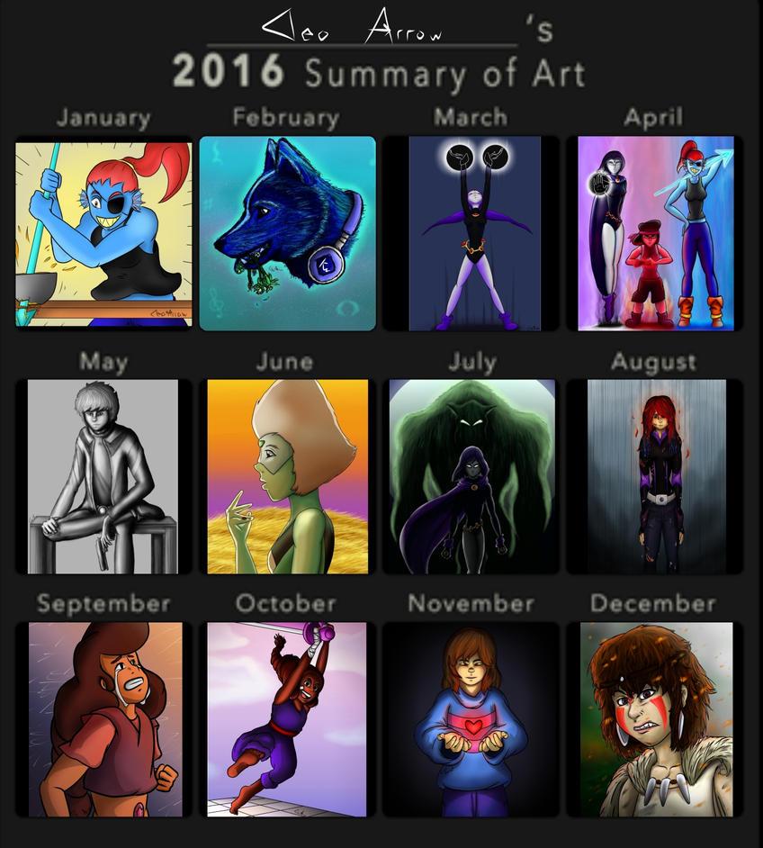 2016 Art Summary by CleoArrow