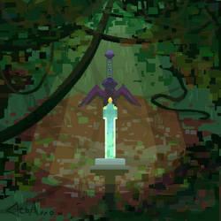 Master Sword Pixel Art by CleoArrow