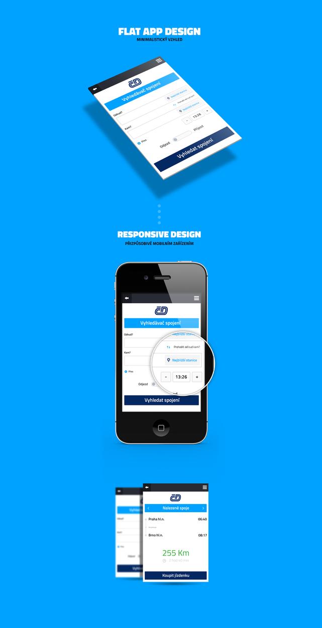 Czech Railways app facelift by Visual-Creative