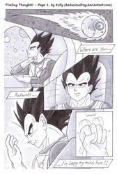 'Trailing Thoughts' - Page 1, VegetaxGoku (DBZ) by bodaciousfrog