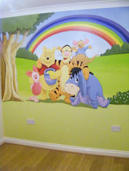 Winnie the Pooh and friends by BogusTheMuralist