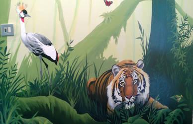 Jungle mural by BogusTheMuralist