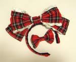 Tartan Lolita hair bow