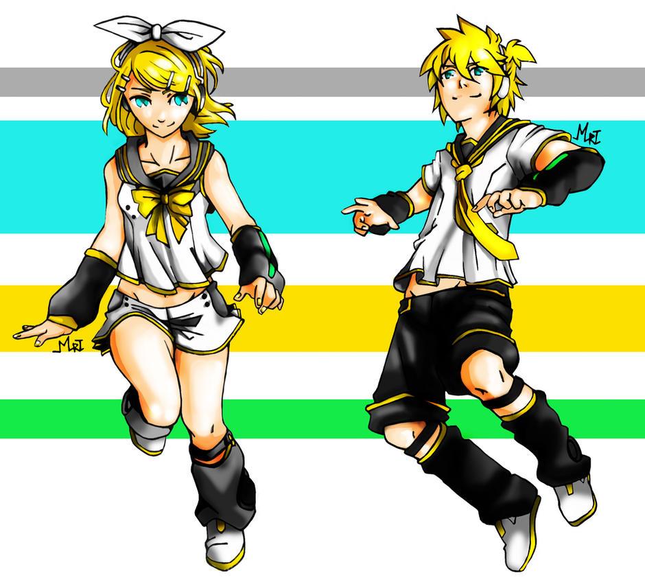 Kagamine Rin - Len: V4 by MrtViolet