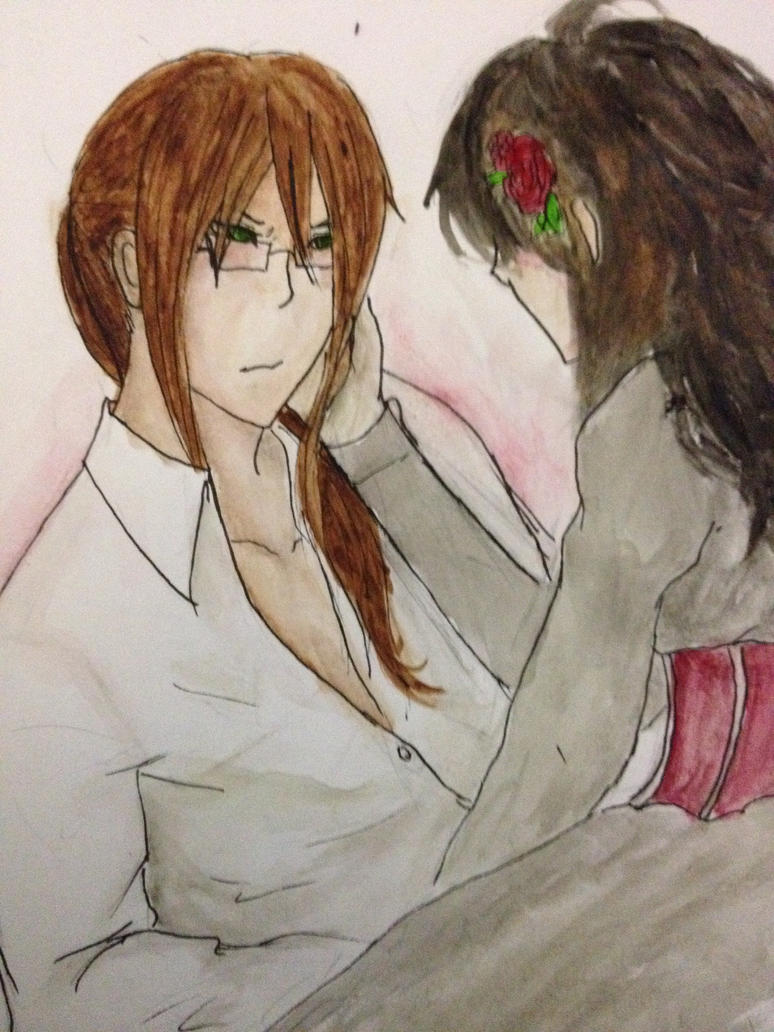 None and the Lady (Lawl. Cant watercolor) by BlackStainedRaven13