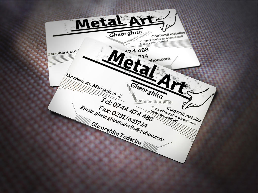 Business card for -Metal Art by Mazgaliici on DeviantArt