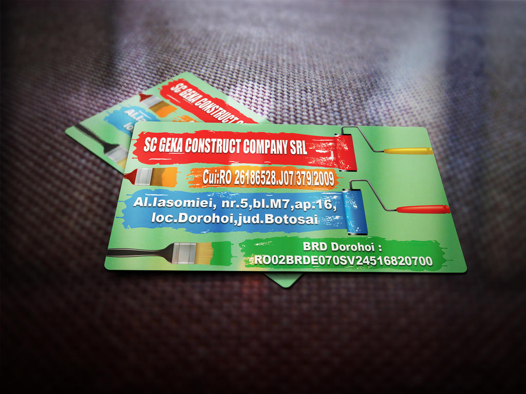 Construction pany Business Card by Mazgaliici on DeviantArt