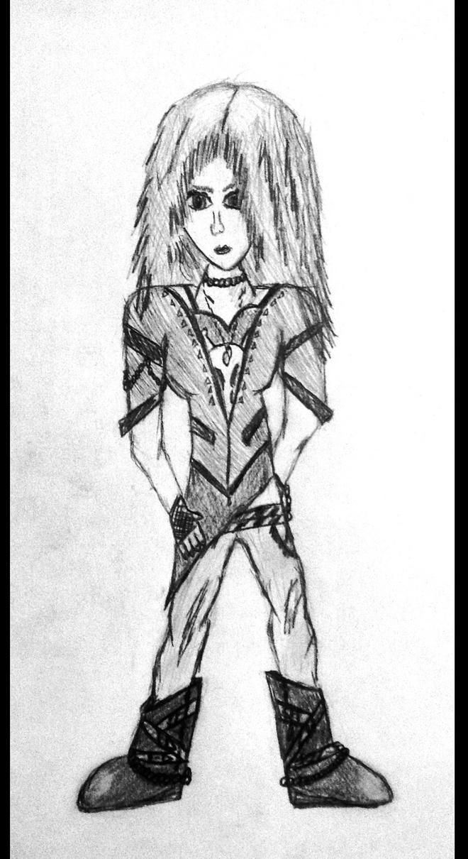 OC Karla (Full view, rough sketch) by HarvestMoonFreak723