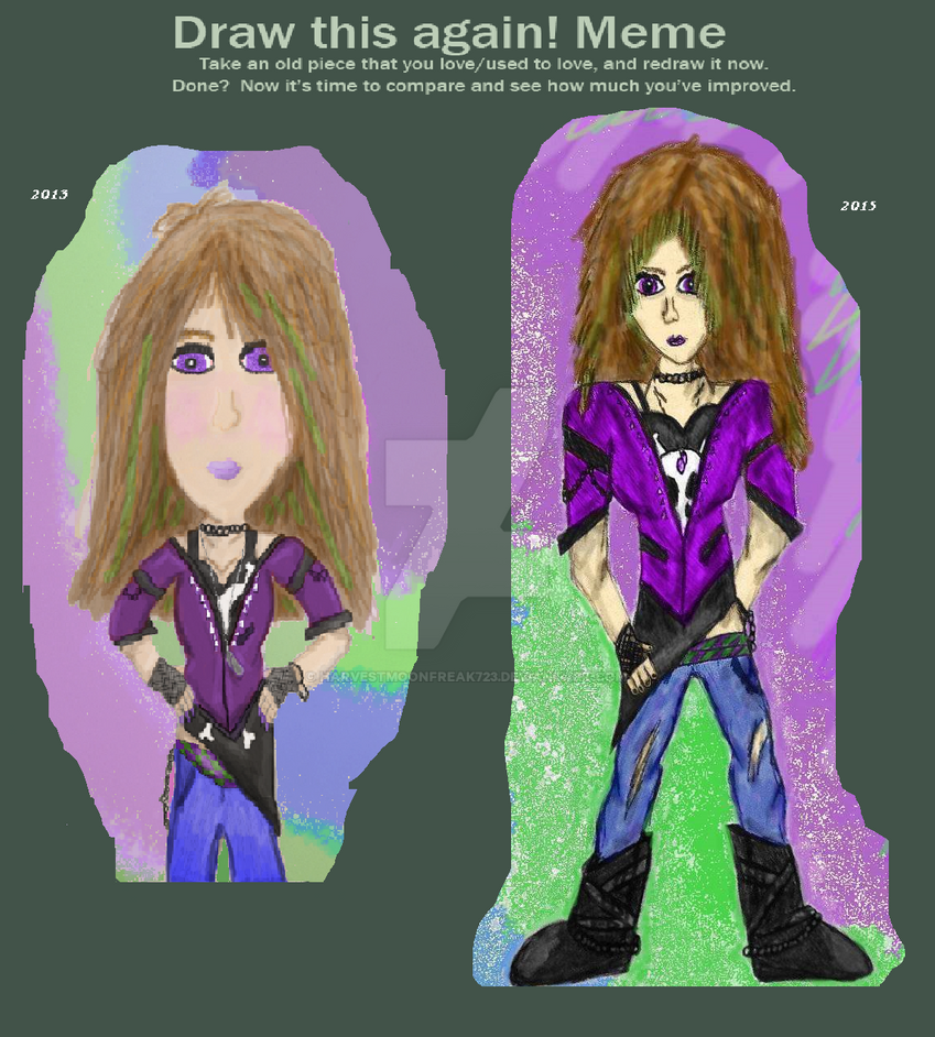 OC Karla: Draw This Again! Meme (Colored) by HarvestMoonFreak723