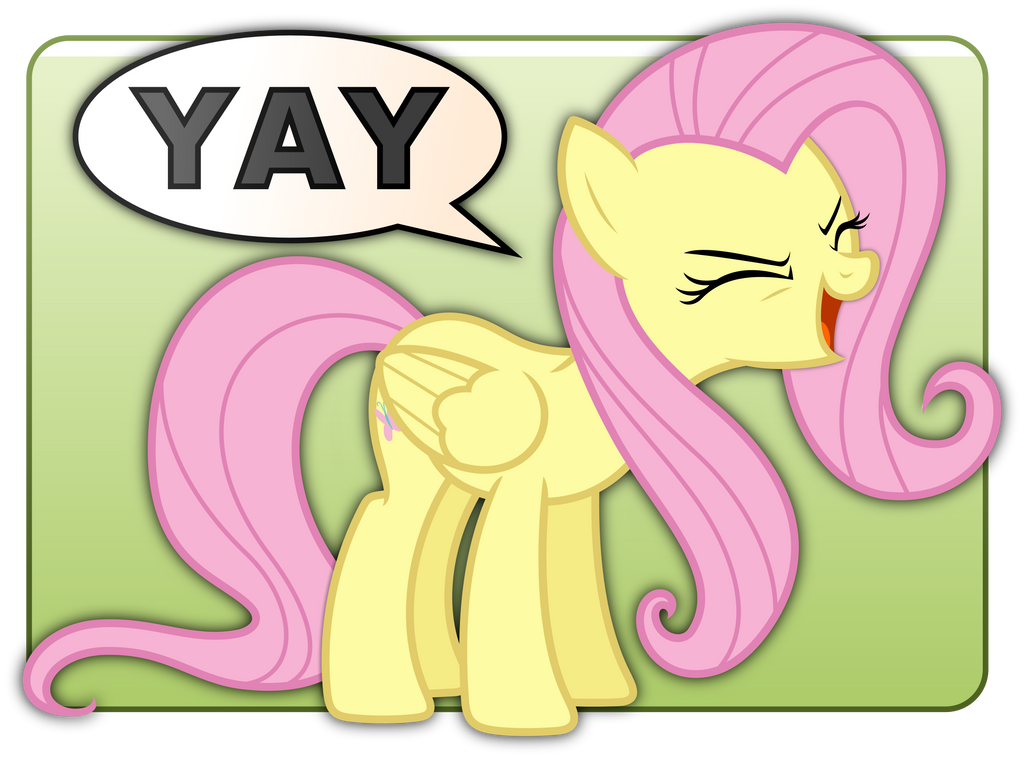 fluttershy__s_yay_badge_by_zutheskunk-d3