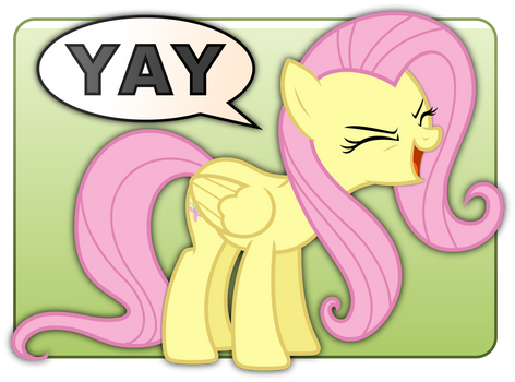 Fluttershy's YAY Badge