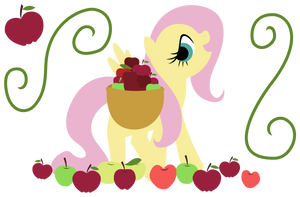MLP Resource: Fluttershy Apple Poster by ZuTheSkunk