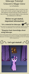 Inkscape Tutorial: Unicorn's Magic Glow by ZuTheSkunk