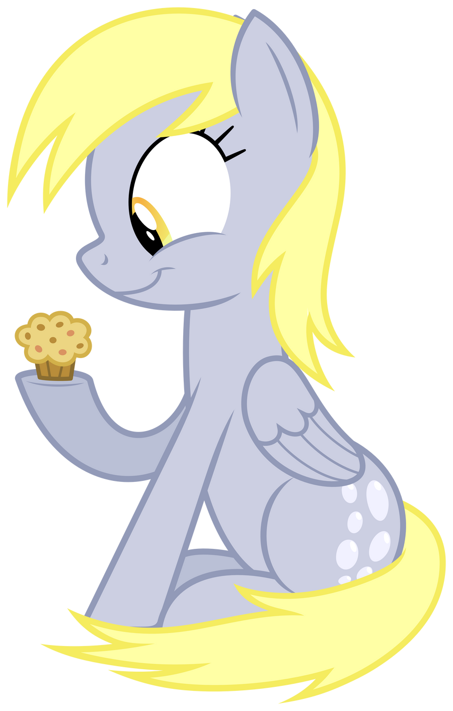 Derpy and her muffin by ZuTheSkunk