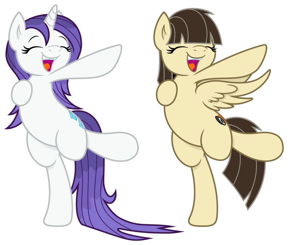 Joey-Darkmeat: Dancing Ponies by ZuTheSkunk