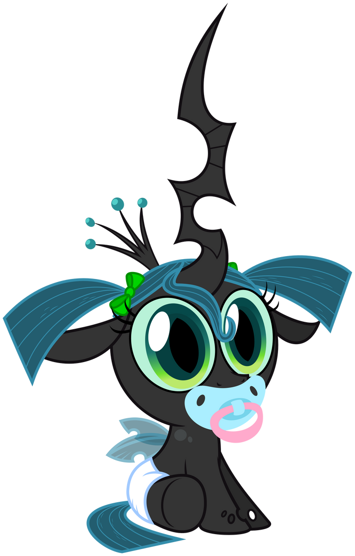 Chrysalis as a toddler by ZuTheSkunk
