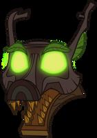 Timberwolf's Head #1 by ZuTheSkunk