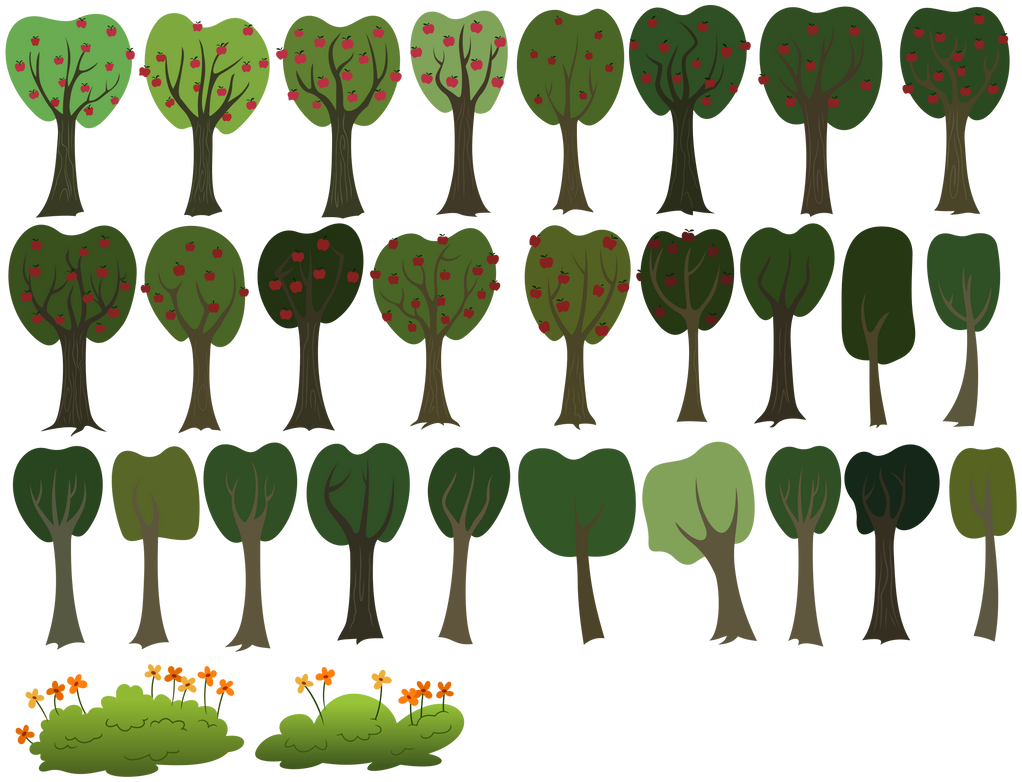 MLP Resource: Trees 02 by ZuTheSkunk