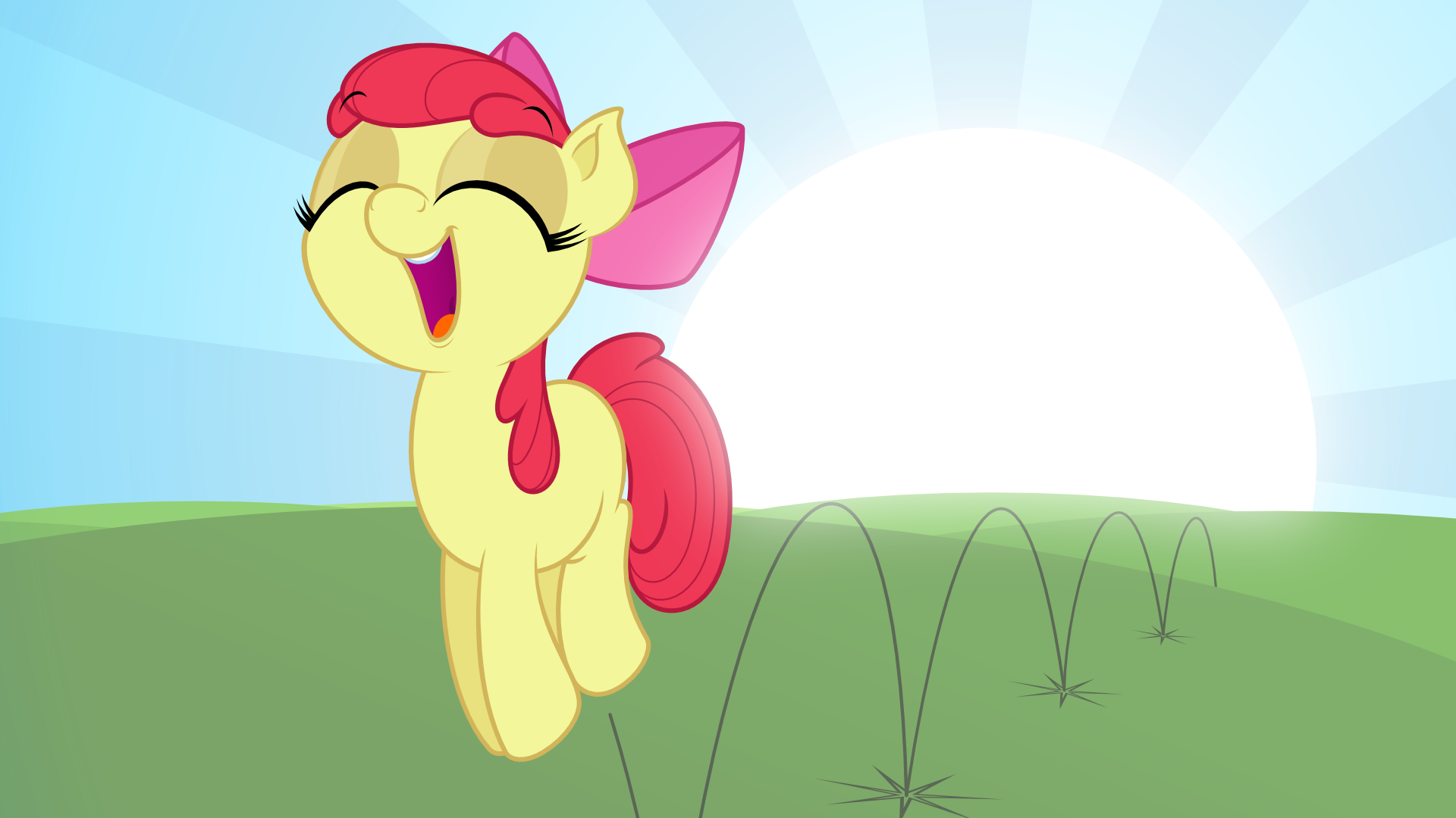 Jumping in the Sunlight