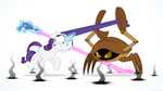 Commission: Rarity VS Giant Crab