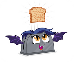 Commission: Alicorn Batpony Toaster by ZuTheSkunk