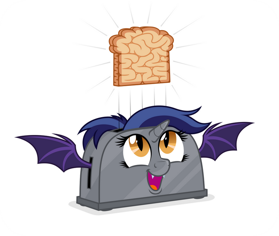 Commission: Alicorn Batpony Toaster by ZuTheSkunk