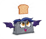 Commission: Alicorn Batpony Toaster