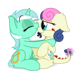 Commission: Lyra and Tatzlbon by ZuTheSkunk