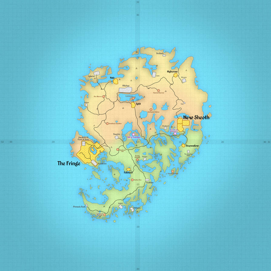 TES4: Map of Shivering Isles by ZuTheSkunk