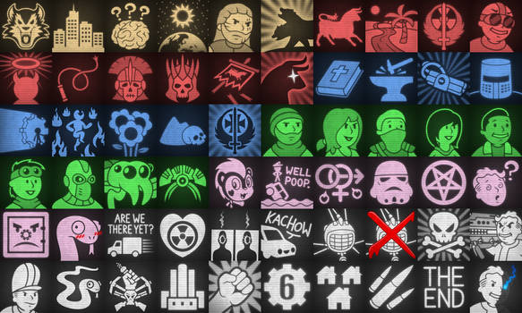 Fallout: The Frontier Achievement Icons (Unused)