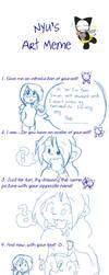 Nyu's Art Meme by mewgal