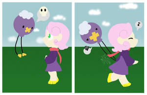 Me and my Drifloon by mewgal