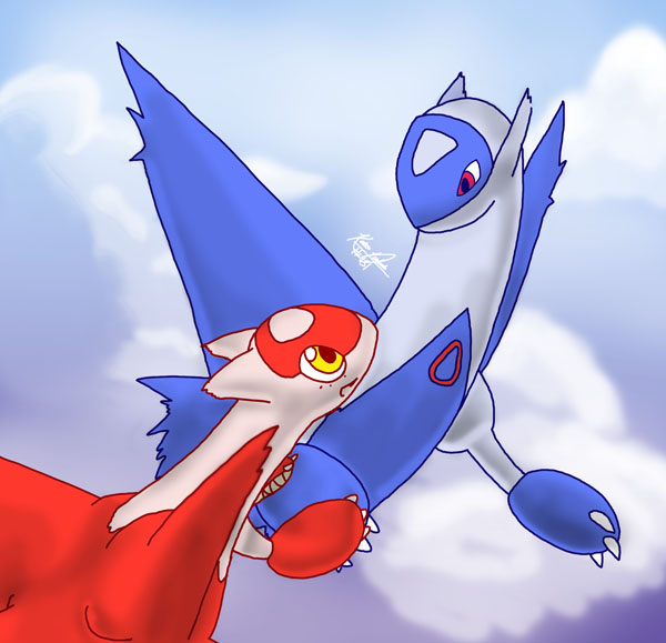 Baby Latios And Latias Latios and latias by mewgal