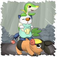 Generation V Starters by mewgal
