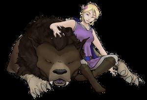 Leida and her Warg