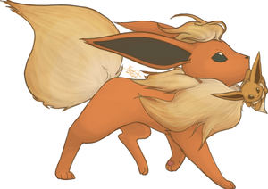 Flareon and Eevee