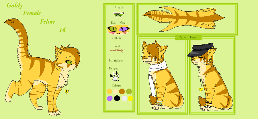 Goldy Reference sheet November 2012 by saeshells