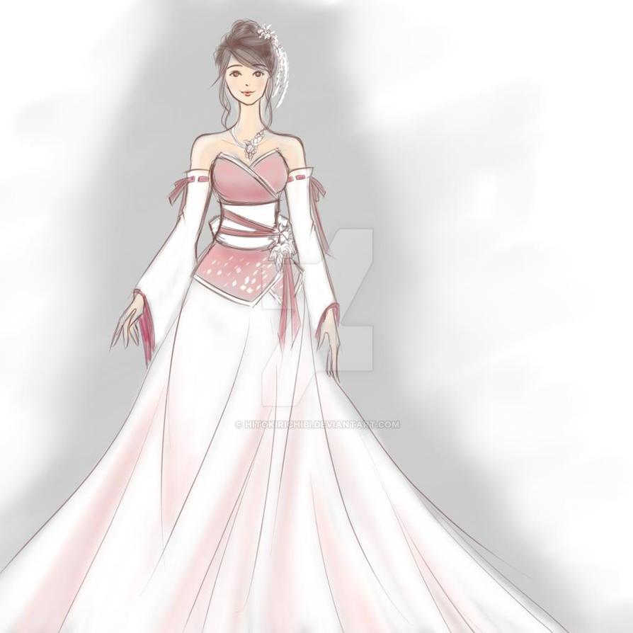Kimono Wedding Gown: Kimono Wedding Dress By HitokiriChibi On DeviantArt