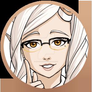 Gaia Online : Risa Character Button by HitokiriChibi