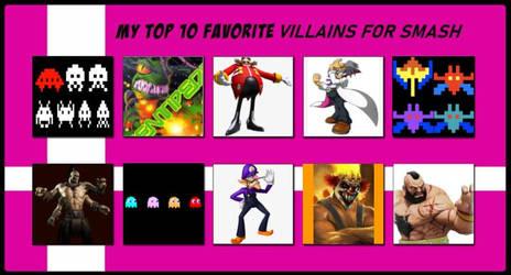 My Top 10 Favorite Villains for Super Smash Bros.