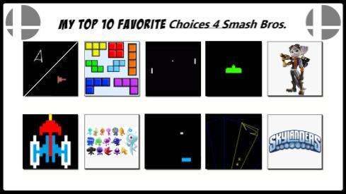 Deviant Art - My Top 10 Favorite Choices for Smash