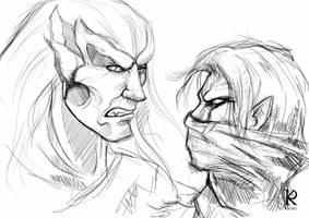 LoK: Kain vs Raziel by KatRoart
