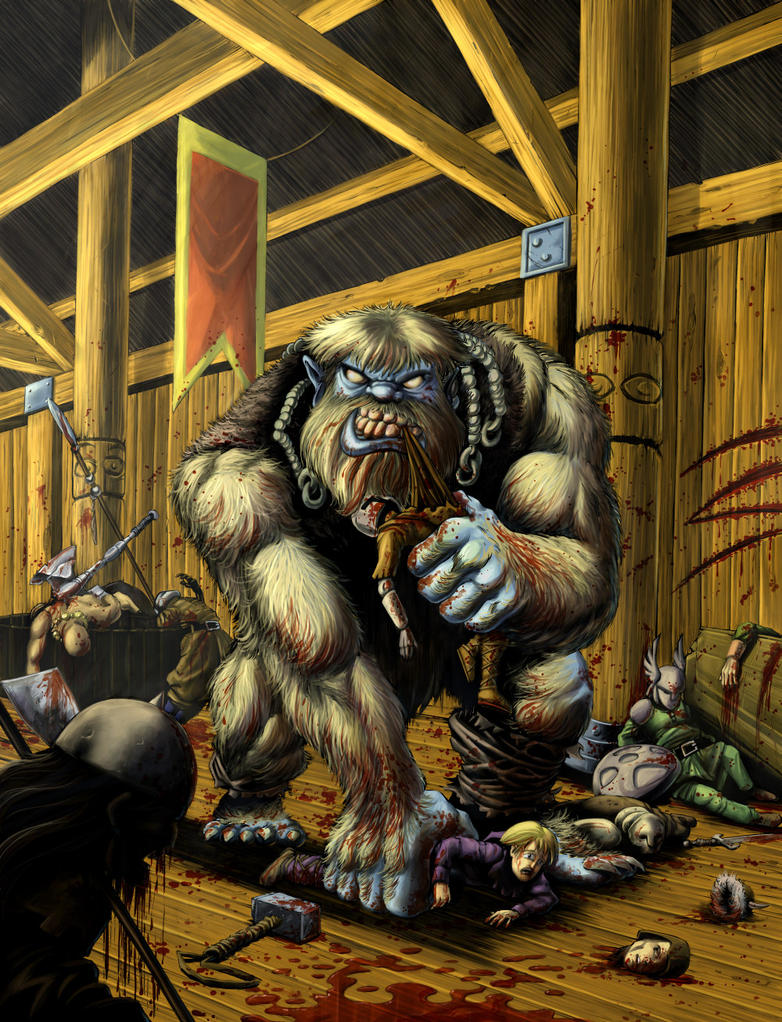grendel in beowulf Beowulf kills grendel's mother with the sword he finds grendel's corpse and uses the sword to cut off his head when beowulf comes out of the water.