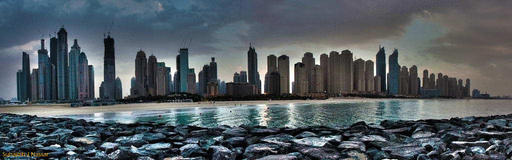 D Art Exhibition Jbr : Dubai marina and jbr skyline by sula on deviantart
