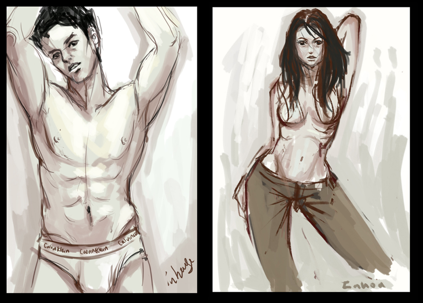sexy girl and guy by in-house on DeviantArt