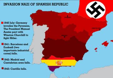 invasion nazi of Spanish Republic by dlink97